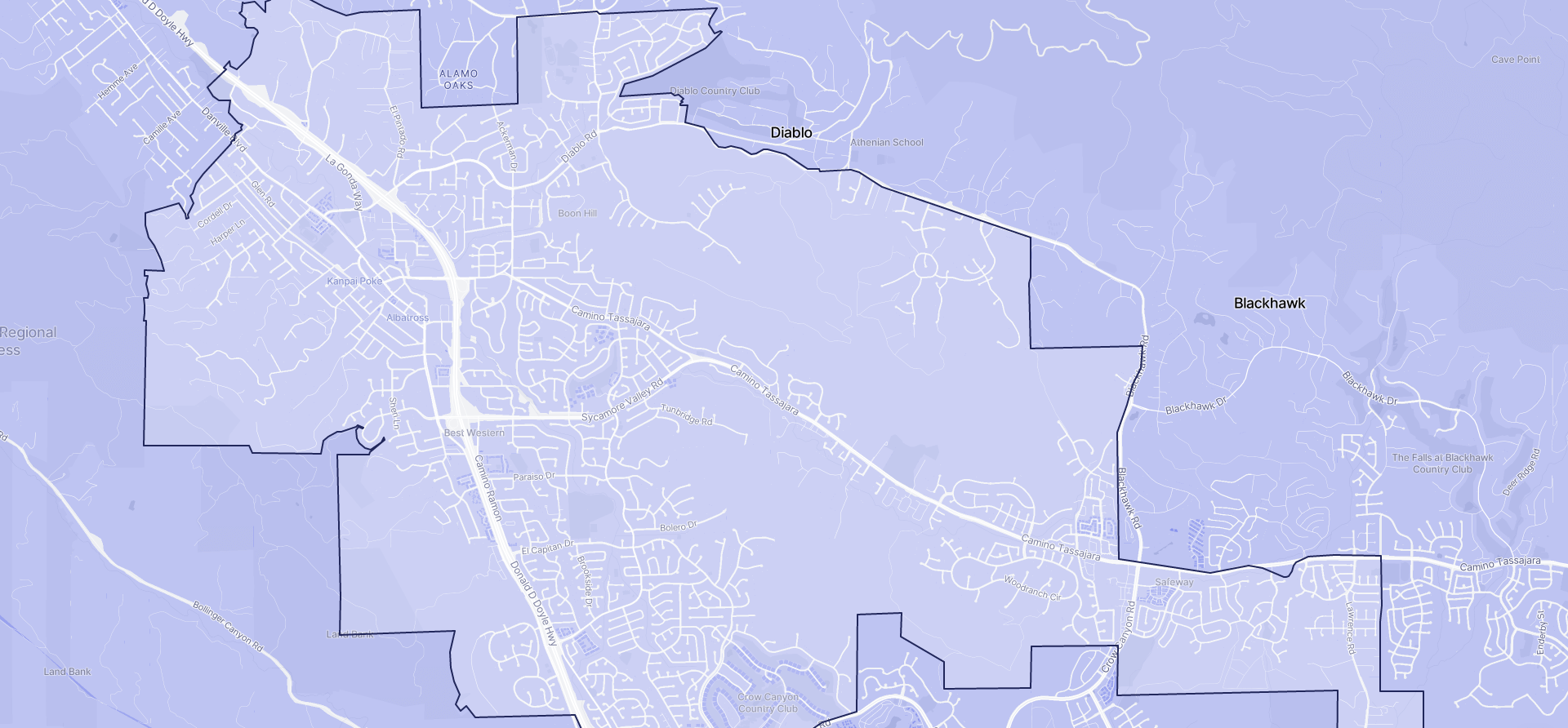 Image of Danville boundaries on a map.