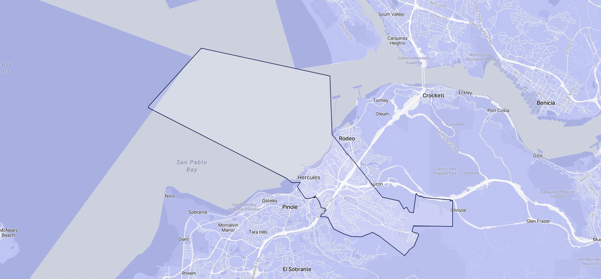 Image of Hercules boundaries on a map.