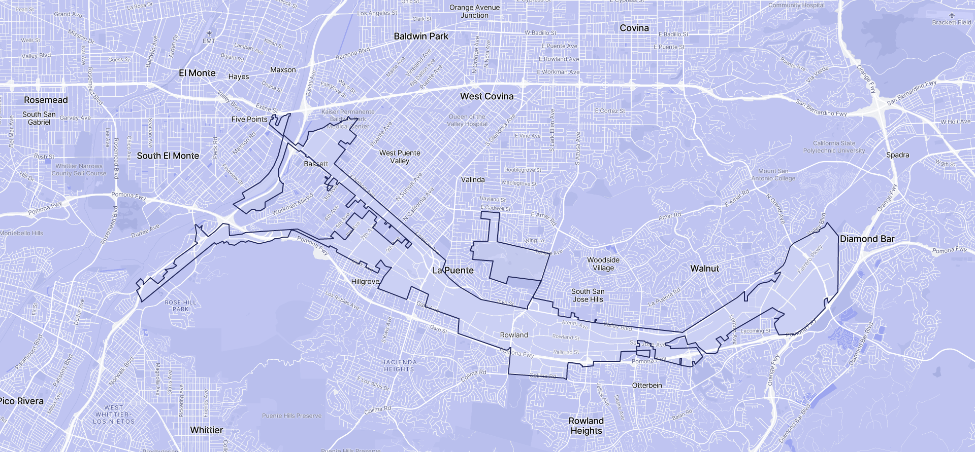 Image of Industry boundaries on a map.