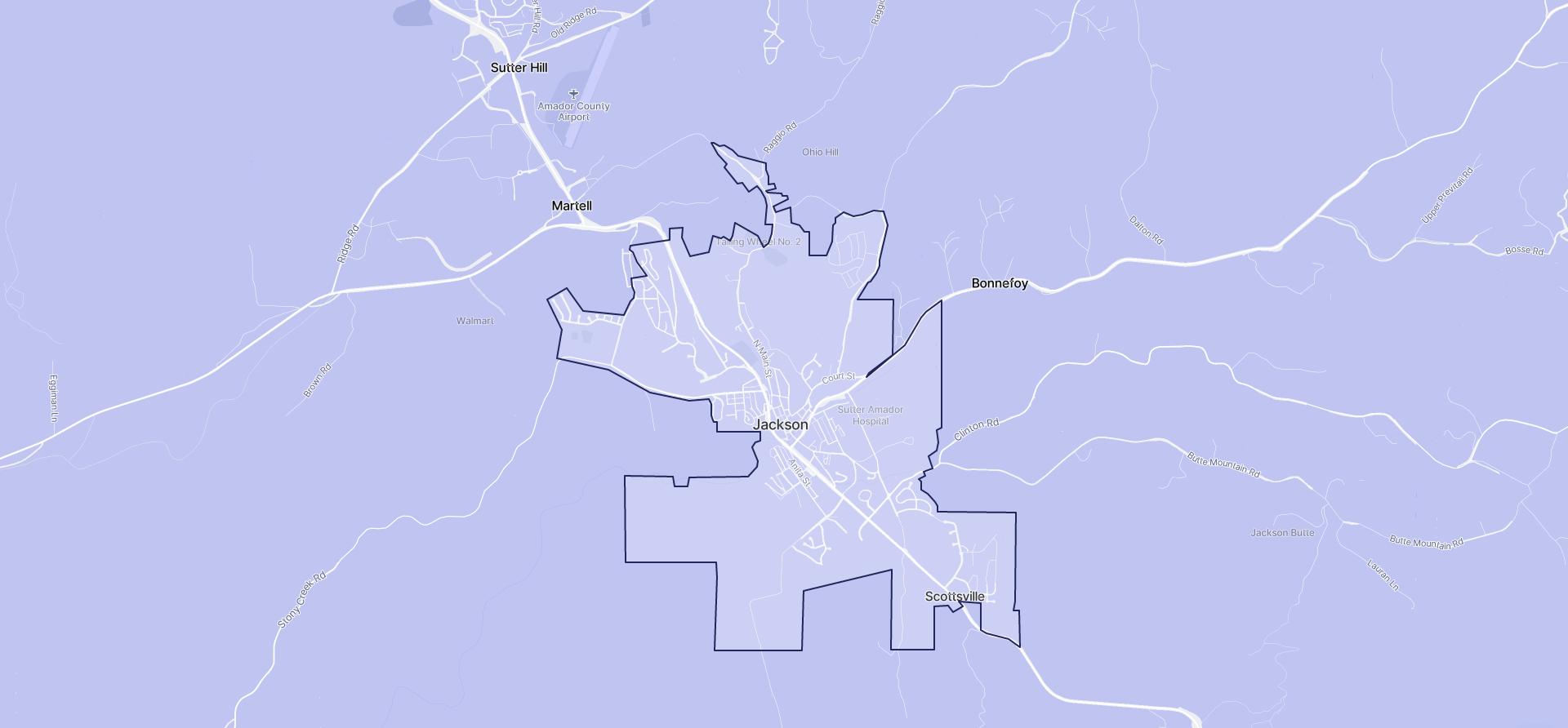 Image of Jackson boundaries on a map.