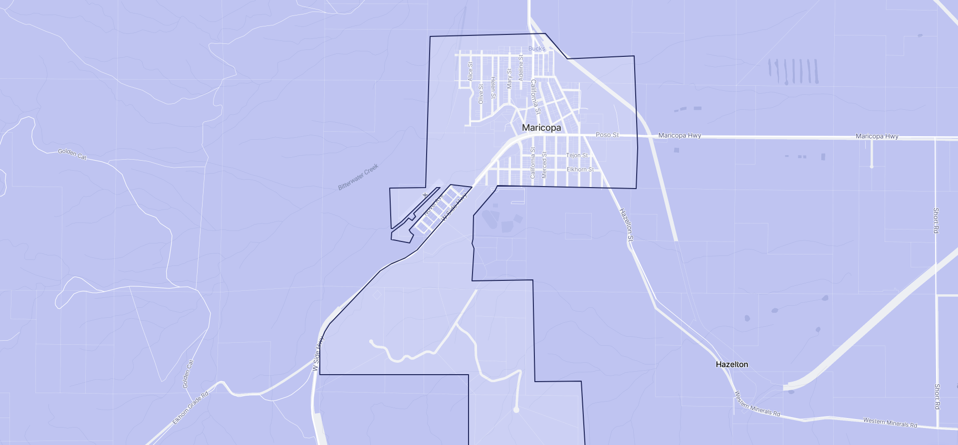 Image of Maricopa boundaries on a map.