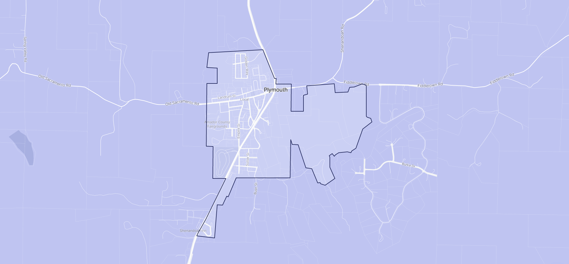 Image of Plymouth boundaries on a map.