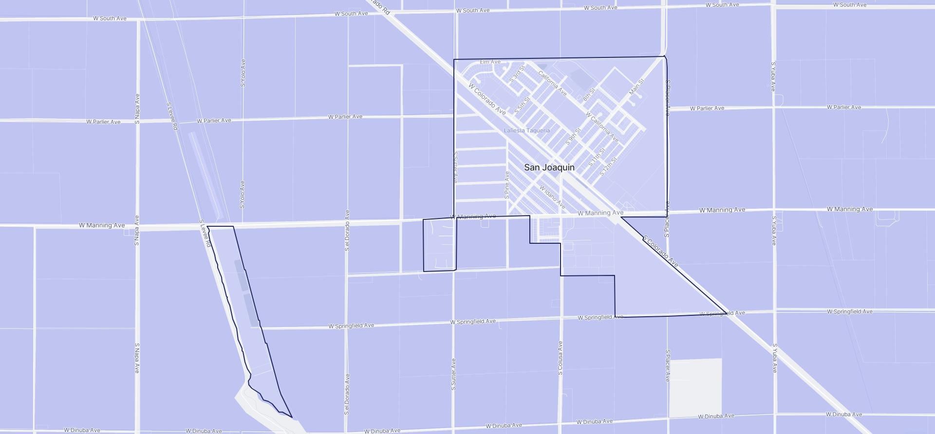 Image of San Joaquin boundaries on a map.