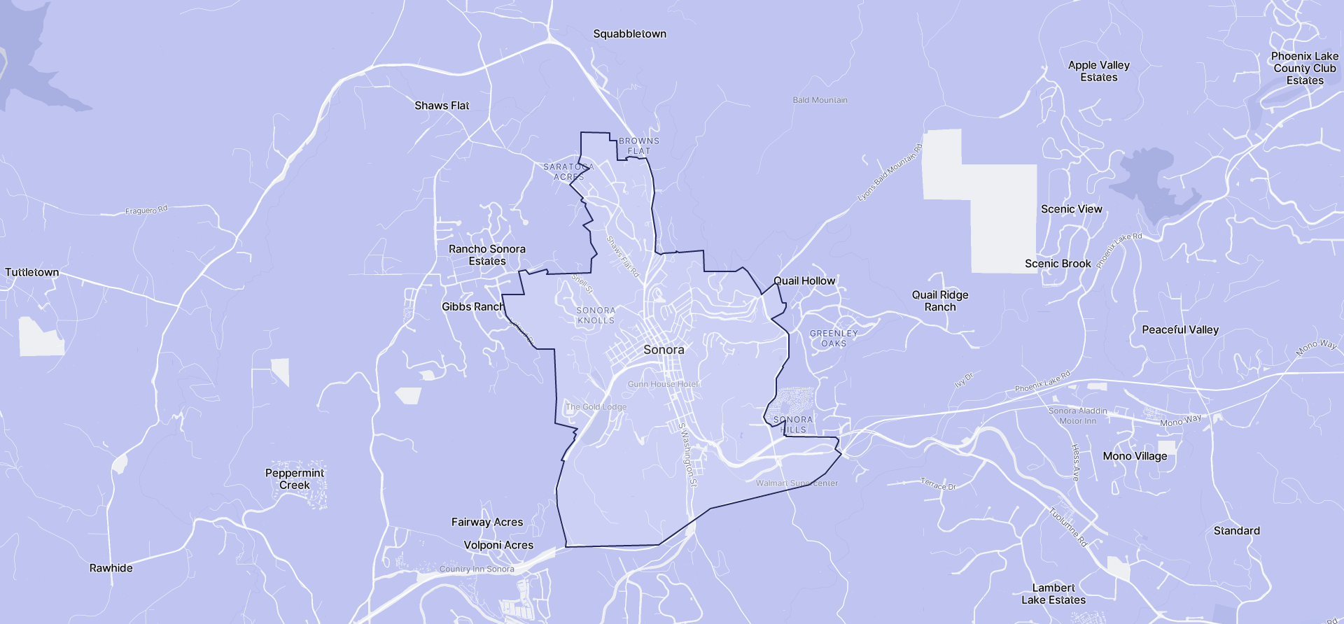 Image of Sonora boundaries on a map.